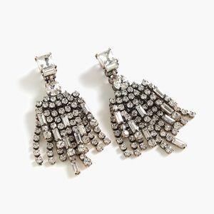 J. Crew Double Crystal Drop Earrings